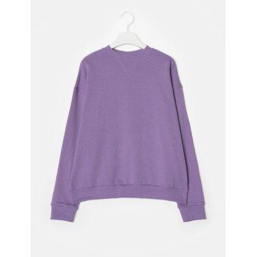 여성 바이올렛 코튼 백 레터링 스웨트 셔츠 (128941YQ2S)