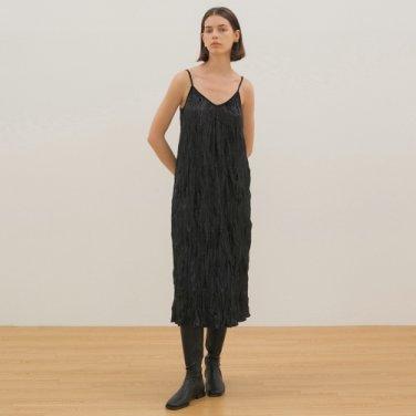 Velvet Slip Dress - Black
