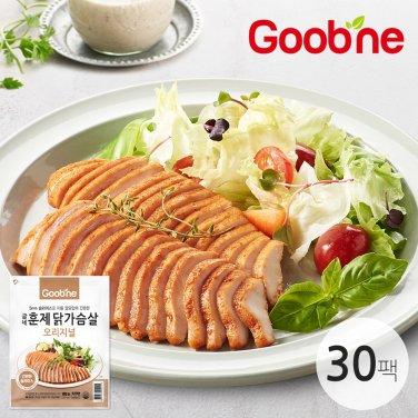 굽네 슬라이스 훈제 닭가슴살 오리지널 100g 30팩_IB82