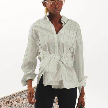 Tie Ribbon Shirt_Light Khaki (JC18FWSH01LK)