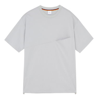 S/S 사선포켓 라운드 티셔츠 PXIGR8011.IM