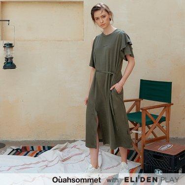 [우아솜메] Ouahsommet Asymmetric Jersey Dress_KH (OBFTO002A)
