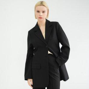Anti-wrinkle Loose Fit Jacket Black(BSJK320_02)