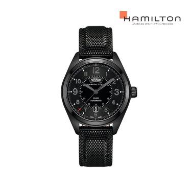 H70695735 카키 필드 데이데이트 42mm PVD 블랙 남성 시계