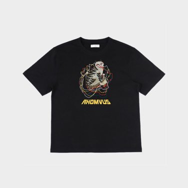 민화 호랑이 티셔츠 - BLACK