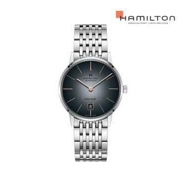 H38455181 아메리칸클래식 인트라매틱 오토 38mm 블랙 메탈 남성 시계