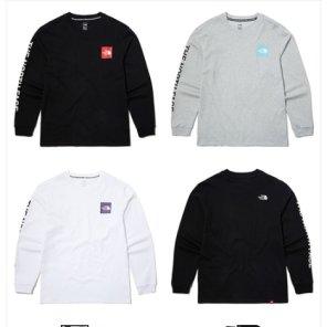남녀공용 긴팔 라운드  티셔츠 TNF 코어 롱슬리브 티 NT7TL70