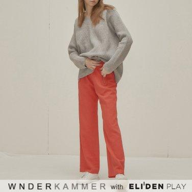 [분더캄머:WNDERKAMMER] Round Pocket Trousers_Red (WK9F8-RPPT010)
