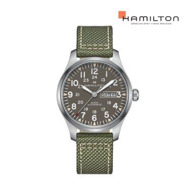 H70535081 카키 필드 데이 데이트 오토 42mm 그레이 다이얼 남성 시계