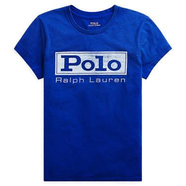 폴로 랄프 로렌 로고 저지 그래픽 티셔츠(WMPOKNINN810225B28)