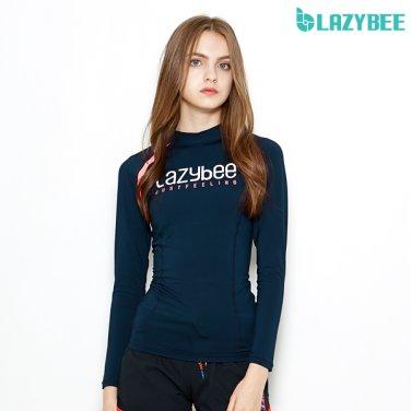[LAZYBEE] 슬림핏 2102 여성 래쉬가드 - 네이비