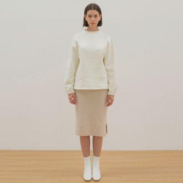 Mock Neck Sweat Shirt - Ivory