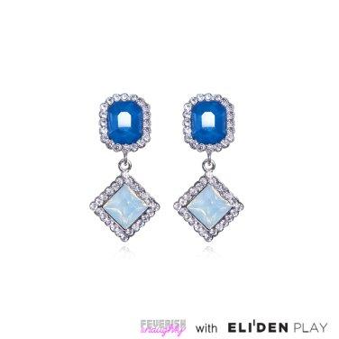 [피버리쉬앤너티] CANDYLAND DOUBLE EARRINGS-BLUE (CL13E3)