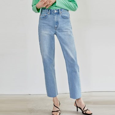 19SR STRAIGHT CUTTING DENIM PANTS (LIGHT BLUE)