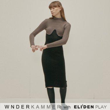 [분더캄머:WNDERKAMMER] Coloration Sweater Dress_Grey (WK9F0-CROP060)