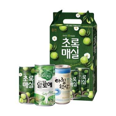 웅진 음료 선물세트 모음 180mlx15캔(알로에/아침햇살/초록매실)