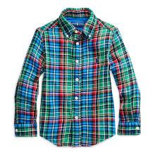 폴로 키즈 남아 2-4세 플래드 코튼 트윌 셔츠(CWPOWOVT6820008300)