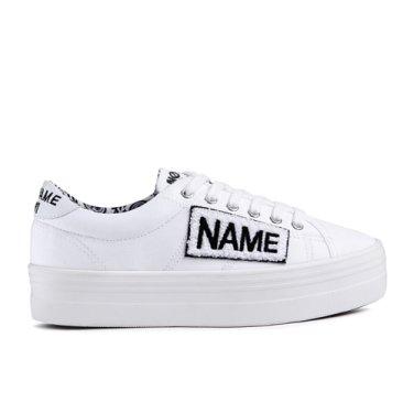NO NAME Plato Sneaker Twill/Patch(001)플라토 스니커SNNF181TW04-001_EL