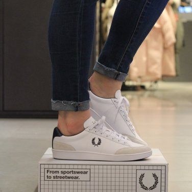 FRED PERRY Hopman Tumbled Action Leather with Suede(100) SFPU11515-100 호프만