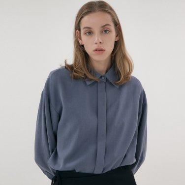 Tencel Long Shirt - Blue