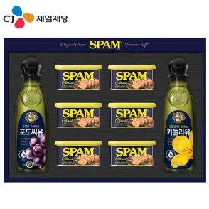 씨제이 스팸 고급유 4호 선물세트(백화점 선물포장) / 무료배송