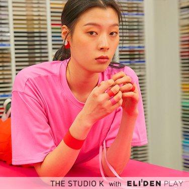 [더스튜디오케이] 19SS 리본 드롭 티셔츠_핑크 (NS-T-K-E-04)