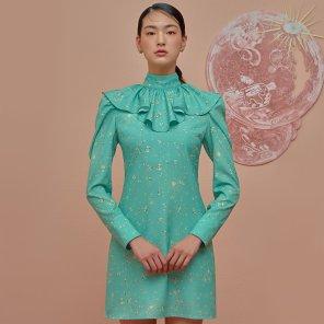 Emerald Ruffle Mini Dress