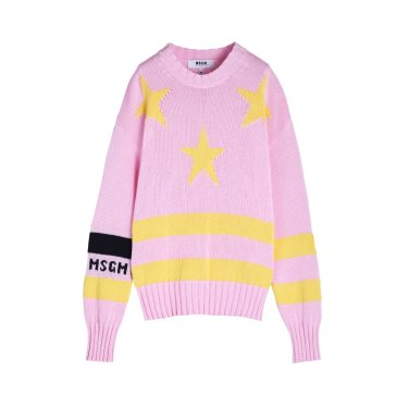 STAR AND STRIPES INTARSIA COTTON KNIT
