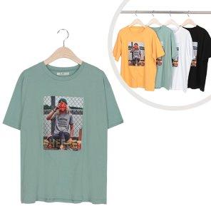 라운드 치즈 여성 프린팅 반팔 티셔츠 (ALEWT066)