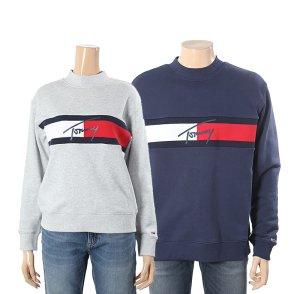 유니 코튼 플래그 긴소매 맨투맨 티셔츠 T32A0TTO021MT5