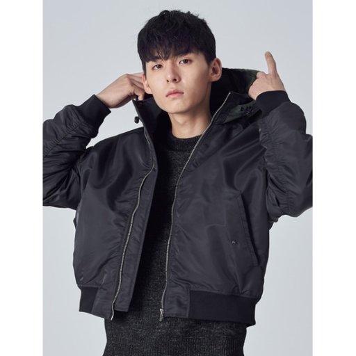 남성 애쉬 배색 후드 MA-1 점퍼 (268X39SY14)