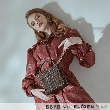 [비비와이비] BBYB Tindy Tweed Square Bag (Red) (09I3210C6R)