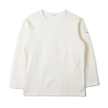 NOCLAIM Boat-neck Basque Slit Shirt Ivory