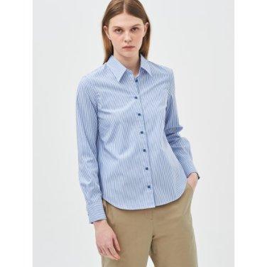 [Online Exclusive] 블루 스트라이프 베이직 셔츠 (BF9264N02P)