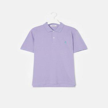 S/S Unisex 라이트 퍼플 솔리드 칼라 티셔츠(BC9242A01V)