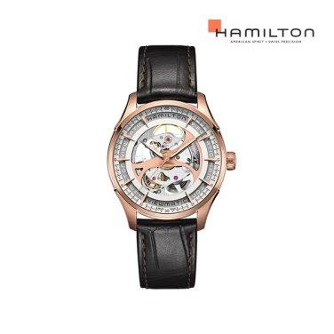 H42545551 재즈마스터 뷰매틱 스켈레톤 젠트 로즈골드 남성 시계