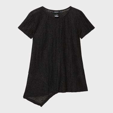 러플 디테일의 크루넥 티셔츠(DW1J1TTS173W)