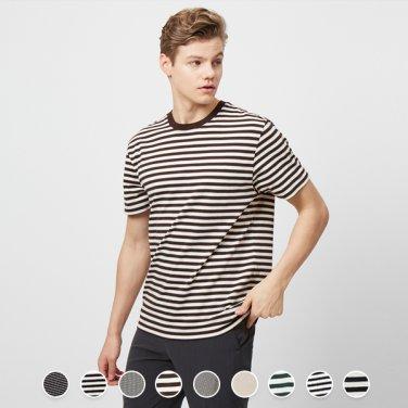 남 스트라이프 반팔 티셔츠 029510