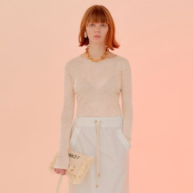 Cloudy Sheer Top_Ivory ( JC20SSTP20IV)