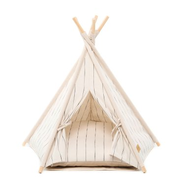 TEEPEE TENT PIN STRIPE IVORY
