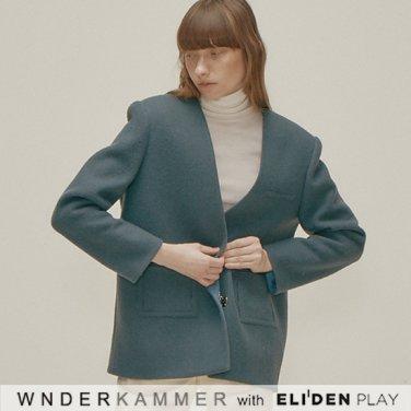 [분더캄머:WNDERKAMMER] Daddy Single Blazer_Dark Blue (WK9F0-DSJK040)