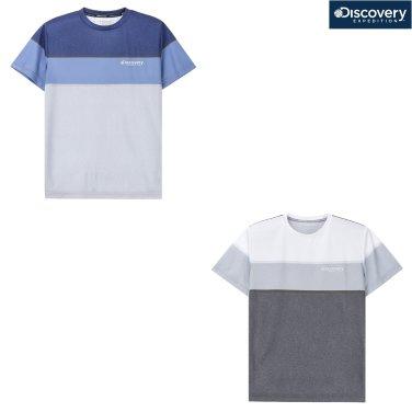 남성 웰딩 포인트 블럭형 라운드 티셔츠 DMRT68831