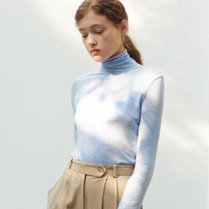 거즈 스판 폴라 티셔츠