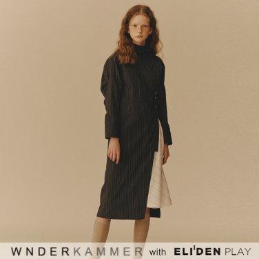 [분더캄머:WNDERKAMMER] Shirring Sleeve Dress_Chacoal (WK9F9-SSOP030)