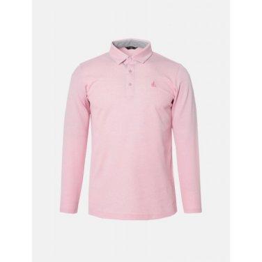 남성 핑크 솔리드 긴팔 티셔츠 (BJ9141B01X)