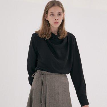 [1st Re-stock] Drape Blouse - Black