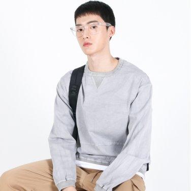 (UNISEX)Pigment crewneck Sweatshirt(GREY)