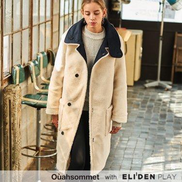 [우아솜메] Ouahsommet REVERSIBLE ECO TEDDYBEAR COAT [NAVY] (OBBCT007A)