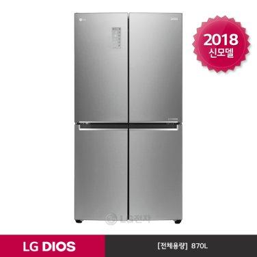 LG DIOS 양문형냉장고 F871SS32 (870L/샤이니퓨어)