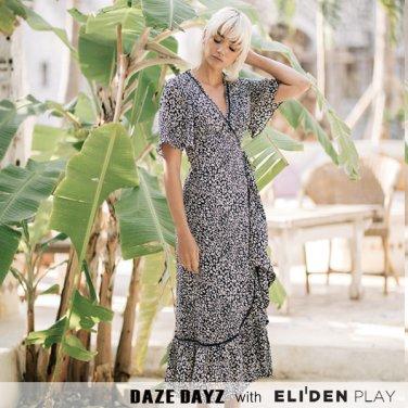 [데이즈데이즈] DAZE DAYZ PANTHER WRAP DRESS (D9M232)